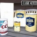 Original cans of Suzuki lubricant and coolant