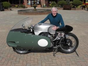 Sammy Miller with his 1957 Moto Guzzi V8