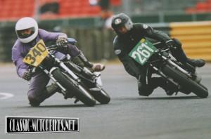 RD250 Race bike in action