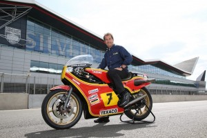 Steve Parrish with Barry Sheene's 1979 Factory Suzuki XR14