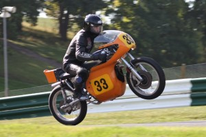 Mike Powell crests the Mountain at Cadwell