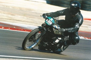 James Hewing on a Norton