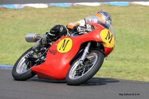 Mick Neason Manx Norton at the Barry Sheene Festival of Speed