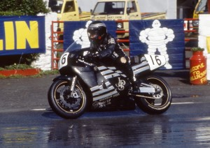 Robert Dunlop competing at the 1990 TT Races