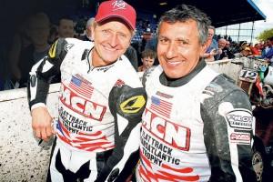 Kevin Schwantz and US legend Dave Aldana