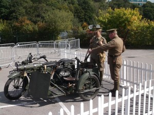 Matchless-Vickers outfit under guard