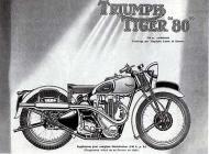 Triumph Tiger T80 Advert