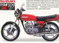 Suzuki GT250 X7 Brochure