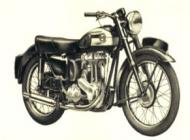 1954 Ariel 350cc Hunter Single Model NH