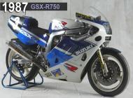 1987 Suzuki GSX-R750 Racing Bike
