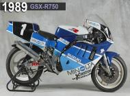 1989 Suzuki GSX-R750 Racing Bike