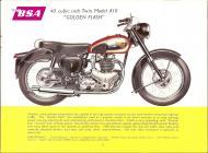 1956 BSA A10 Golden Flash sales brochure