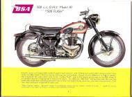 1956 BS A7 500 Flash sales brochure