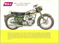 1956 BSA A7 Shooting Star sales brochure