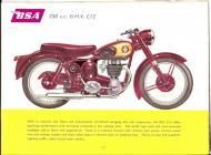 1956 BSA C12 sales brochure