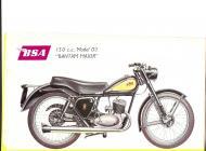 1956 BSA D3 Bantam Major sales brochure