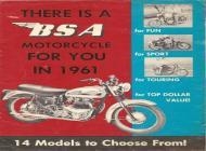 1961 BSA sales brochure