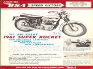 1961 BSA Super Rocket sales brochure