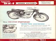 1961 BSA 350 Star Sportsman sales brochure