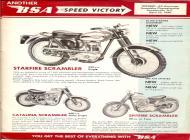 1961 BSA Scrambler sales brochure