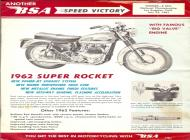 1962 BSA Super Rocket sales brochure