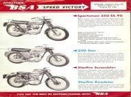 1962 BSA Sportsman 250 Star Starfire sales brochure
