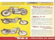 1963 BSA Gold Star and SS-90 sales brochure