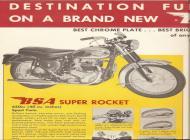 1963 BSA Super Rocket sales brochure