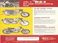 1963 BSA Sport Star, Super Bantam and Gold Star sales brochure