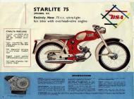 1964 BSA Starlite 75 sales brochure