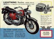 1964 BSA Lightning Rocket sales brochure