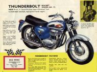 1964 BSA Thunderbolt Rocket sales brochure