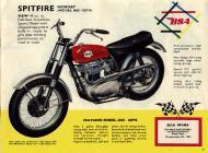1964 BSA Spitfire Hornet sales brochure