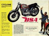 1964 BSA Cyclone Competition Model sales brochure