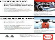 1972 BSA Lightning and Thunderbolt 650 sales brochure