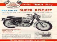 1960 BSA Super Rocket sales brochure