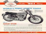 1960 BSA Gold Star Road Racer sales brochure