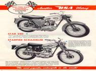 1960 BSA Star 250 and Starfire Scrambler sales brochure