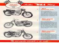 1960 BSA Shooting Star, Spitfire Scrambler and Catalina Scrambler sales brochure