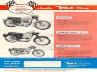 1960 BSA 500 Flash, Bantam Super 175 and Bantam 125 sales brochure
