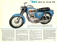 1962 BSA Royal Star 500 sales brochure