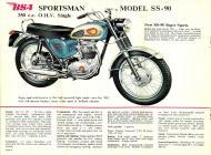 1962 BSA Sportsman Model SS-90 sales brochure