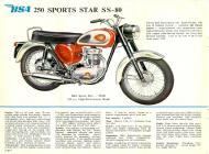 1962 BSA 250 Sports Star SS-80 sales brochure