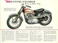 BSA Spitfire Scrambler sales brochure
