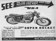 1960 BSA Super Rocket brochure