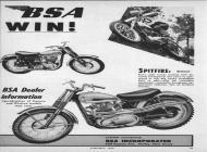 1960 BSA Scrambler sales brochure