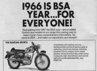 1966 BSA Bantam advert