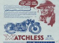 Matchless G3 sales brochure