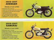 Kawasaki 350S-350T Avenger and 250S-250T Samurai sales brochure