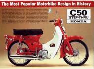 Honda C50 Step-Thru sales brochure